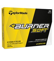TaylorMade Burner Soft Yellow Golf Balls 2017
