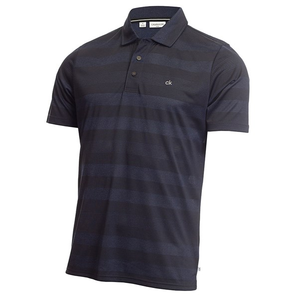 Calvin Klein Mens Shadow Stripe Polo Shirt