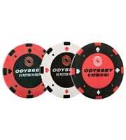Odyssey Poker Chip Ball Markers  3 Pack