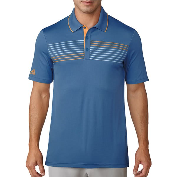 adidas Mens Essentials Textured Tipped Polo Shirt