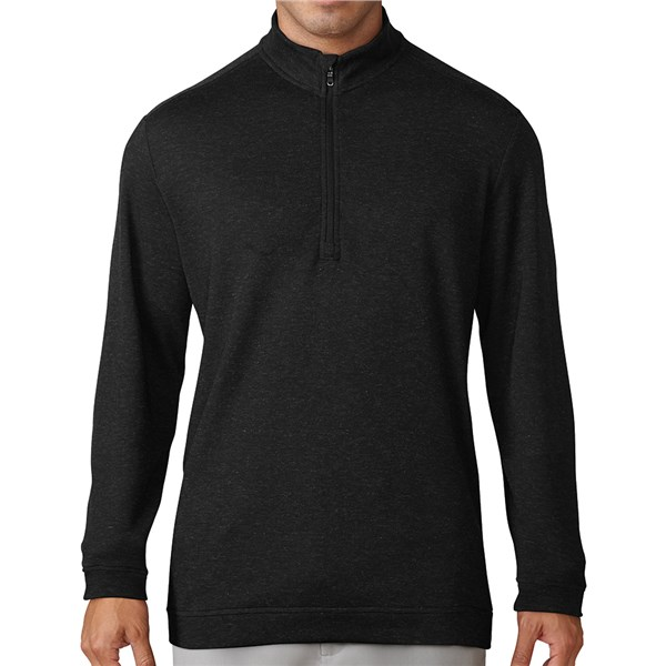 adidas Mens Wool Quarter Zip Pullover