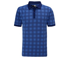 Callaway Mens Plaid Jacquard Polo Shirt