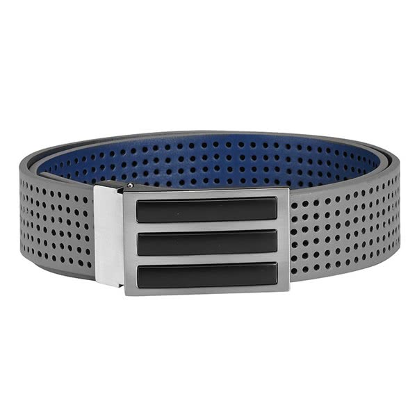 adidas Mens 3 Stripes Perforated Reversible Belt