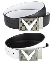 Callaway Mens Leather Chevron Reversible Belt
