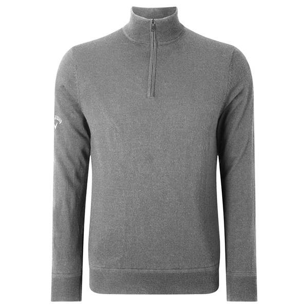 Callaway Mens Windstopper Lined Quarter Zipped Sweater