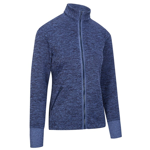 Callaway Ladies Dual Action Heathered Fleece Jacket