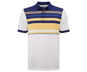 Callaway Mens Chest Striped Polo Shirt
