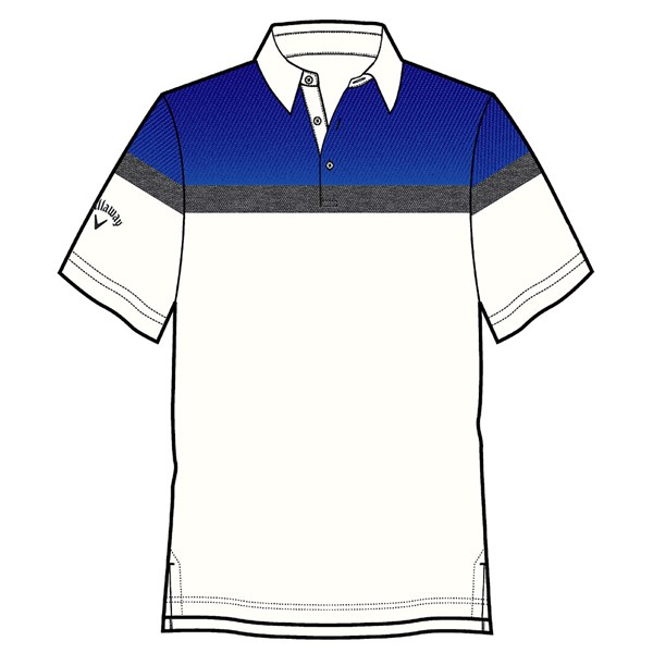 Callaway Mens Embossed Shoulder Block Polo Shirt