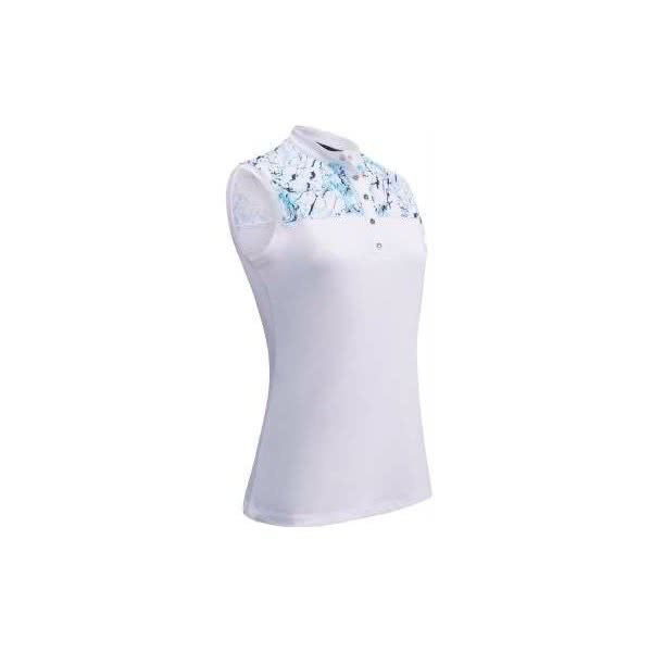 5698d4904dd3a Callaway Ladies Liquid Print Sleeveless Polo Shirt. Double tap to zoom ·  Write A Review