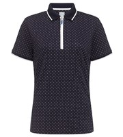 Callaway Ladies Polka Dot Short Sleeve Polo Shirt