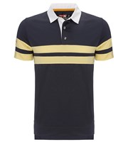 Callaway Mens X Range Rugby Chest Striped Polo Shirt