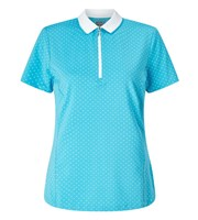 Callaway Ladies Polka Dot Short Sleeve Polo Shirt 2017