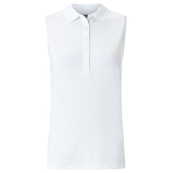 Callaway Ladies Sleeveless Micro Hex Polo Shirt