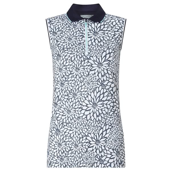 b33968e454afe Callaway Ladies Sketchy Floral Sleeveless Polo Shirt. Double tap to zoom.  1  2
