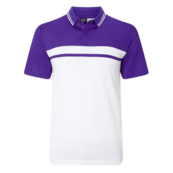 Callaway Mens Colour Blocked Pique Polo Shirt