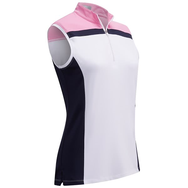 Callaway Ladies 3 ColourBlock Sleeveless Polo Shirt