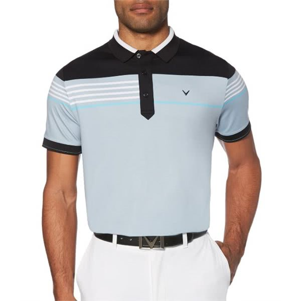 Callaway Mens Chest Stripe Block Polo Shirt
