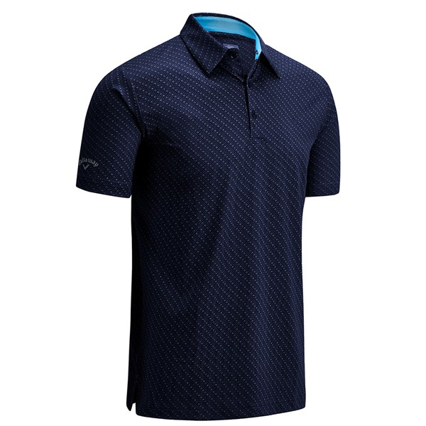 Callaway Mens All Over Chev Print Polo Shirt