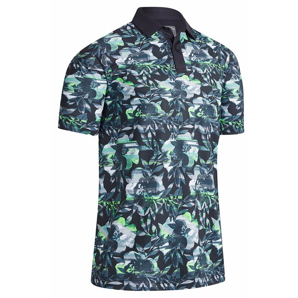 Callaway Mens Structural Printed Floral Polo Shirt