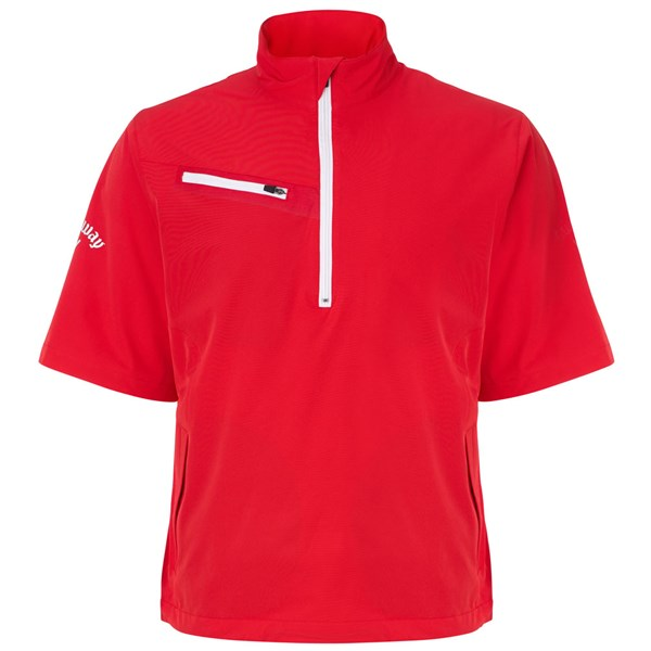 Callaway Mens Gust 2.0 Short Sleeved 1/4 Zip Windshirt