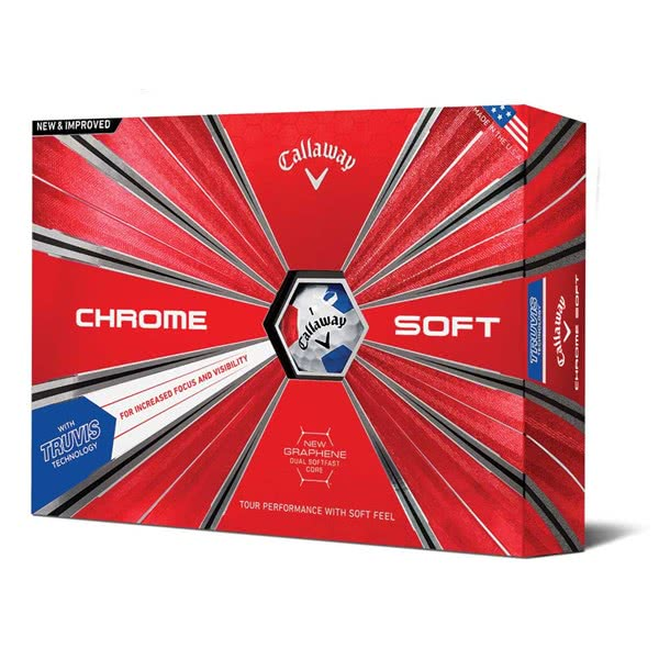 Callaway Chrome Soft Truvis Red/Blue Golf Balls (12 Balls) 2019