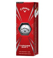 Callaway Chrome Soft Golf Balls  3 Ball Sleeve