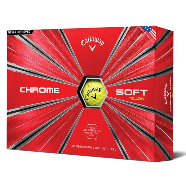 Callaway Chrome Soft Yellow Golf Balls (12 Balls) 2019