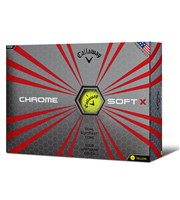 Callaway Chrome Soft X Yellow Golf Balls 2017  12 Balls