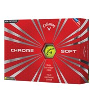 Callaway Chrome Soft Yellow Golf Balls  12 Balls
