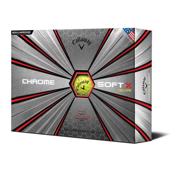 Callaway Chrome Soft X Yellow Golf Balls (12 Balls) 2019
