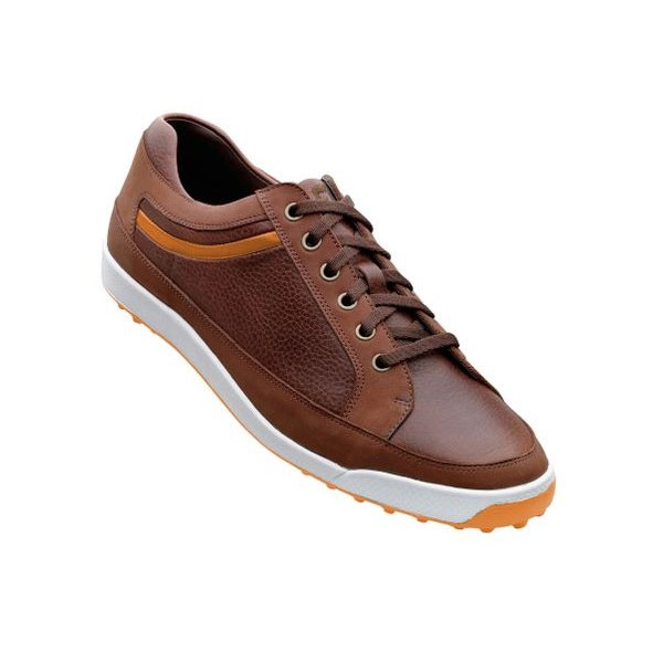 FootJoy Mens Contour Casual Shoes (Brown/Orange) 2012