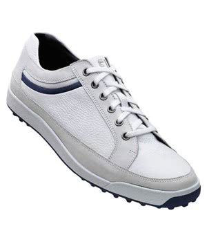FootJoy Mens Contour Casual Shoes (White/Navy) 2012