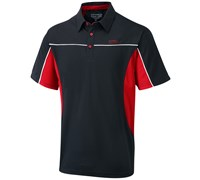 Cypress Point Mens Cut and Sew Solid Polo Shirt 2015 (Black/Red)