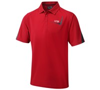 Cypress Point Mens CoolPass Solid Polo Shirt (Red)