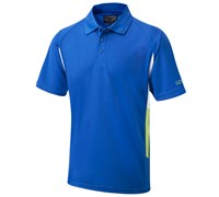 Cypress Point Mens CoolPass Side Detail Polo Shirt (Blue)