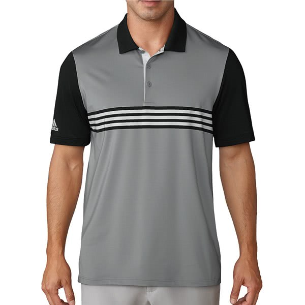 32d3efd777 adidas Mens Ultimate 365 3-Stripes Engineered Polo Shirt. Double tap to  zoom. 1; 2; 3