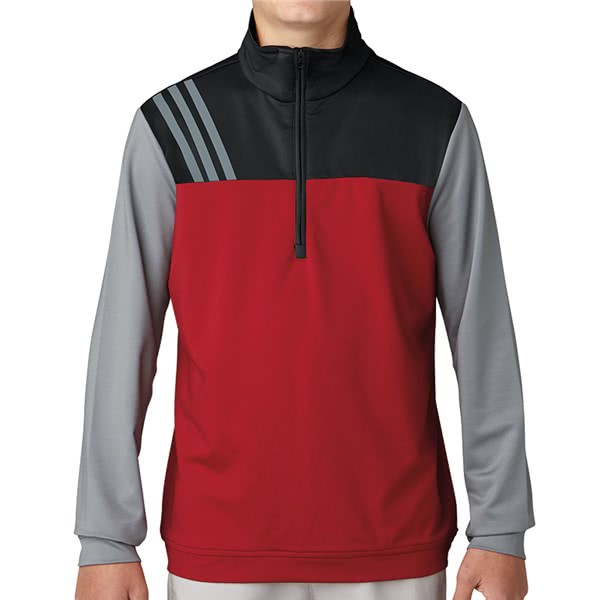 adidas Boys Fashion 3-Stripes Half Zip Top