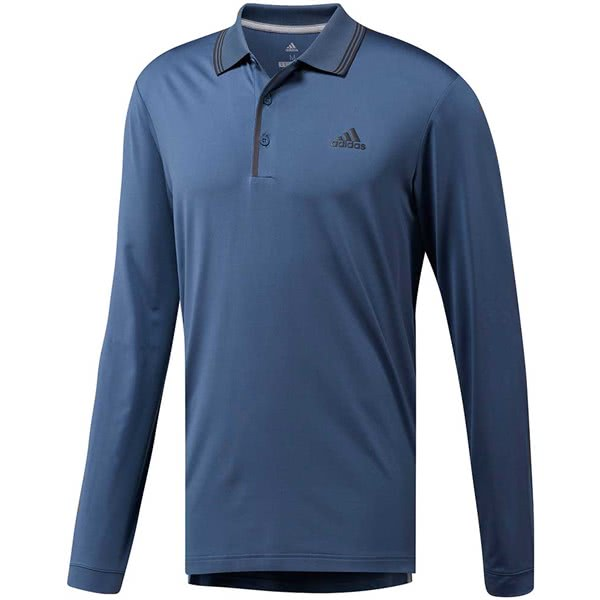 988d2796 adidas Mens Ultimate Long Sleeve Polo Shirt. Double tap to zoom. Sorry ...