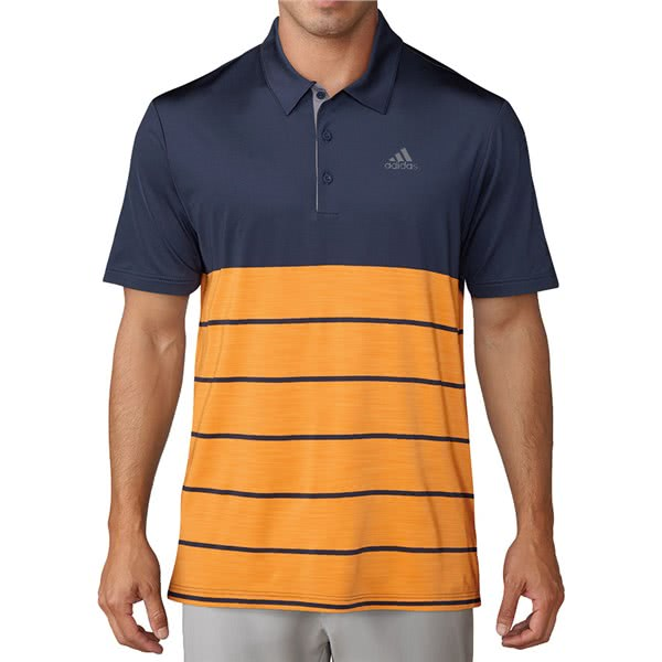 f1dc11c1 adidas Mens Ultimate 365 Heather Block Polo Shirt (Logo on Chest). Double  tap to zoom. 1 ...