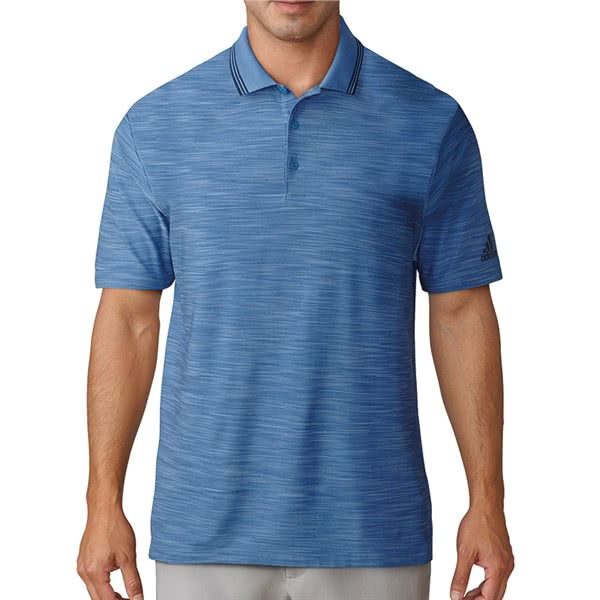 adidas Mens Ultimate 365 Textured Stripe Polo Shirt
