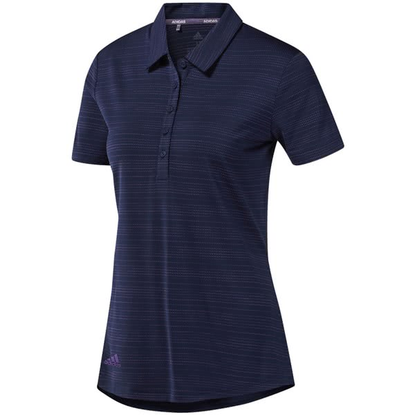 adidas Ladies Microdot Short Sleeve Polo Shirt 2019