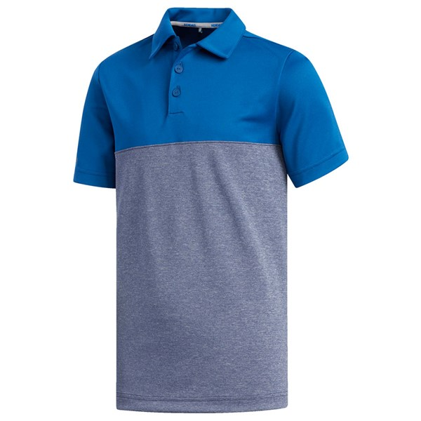 adidas Boys Heathered Colour Blocked Polo Shirt