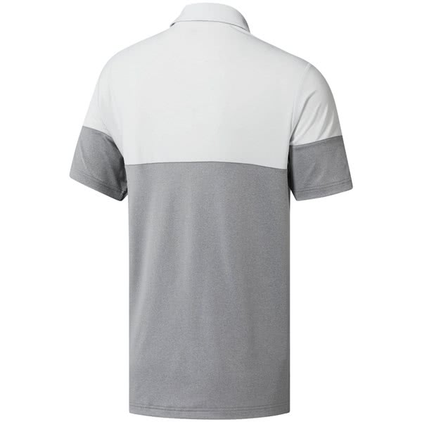 71ae1a68d4 adidas Mens Ultimate 365 Heather Blocked Polo Shirt (Logo on Sleeve)