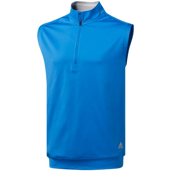 adidas Mens Classic Club Quarter Zip Vest