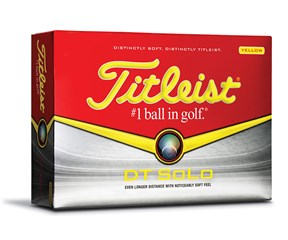 Titleist DT Solo Yellow Golf Balls  12 Balls