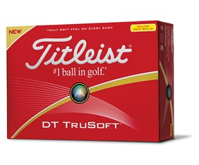 Titleist DT TruSoft Yellow Golf Balls 2016  12 Balls