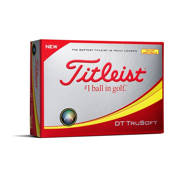 Titleist DT TruSoft Yellow Golf Balls (12 Balls)