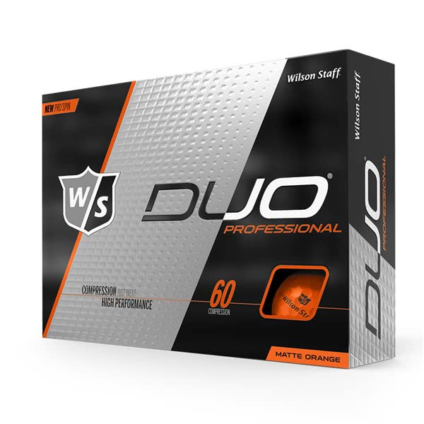 Wilson Staff Duo Professional Orange Golf Balls (12 Balls)