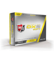 Wilson Staff DX2 Soft Yellow Golf Balls 2015  12 Balls