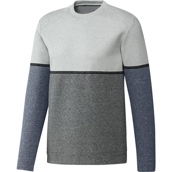 adidas Mens adicross Heather Fleece Crew Sweatshirt